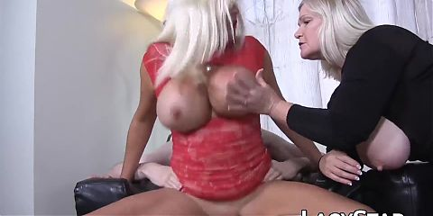 GILF Lacey Starr in hardcore threesome pounding with busty MILF