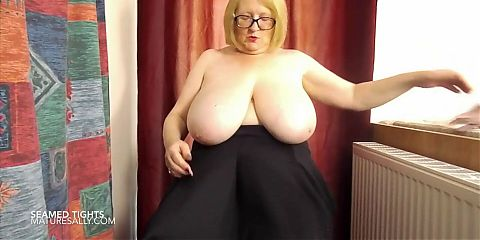 Granny in her seamed tights