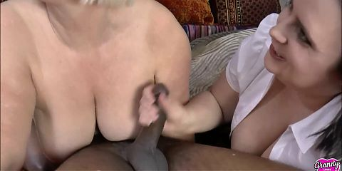 GRANNYLOVESBLACK - Lacey Gives Housemaid A Chocolate Treat