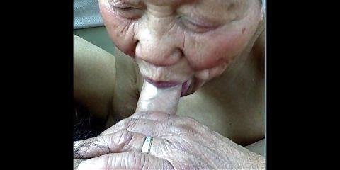 UNLOAD YOUR BALLS IN GRANNIES JAWS!