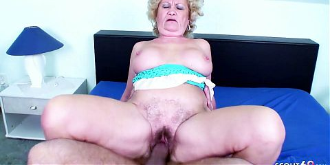 82yr OLD GRANNY WITH HAIRY PUSSY SEDUCED TO FUCK BY YOUNG BOY
