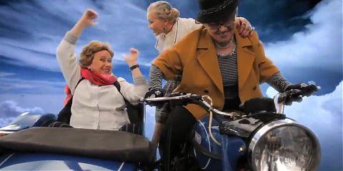 granny on bike