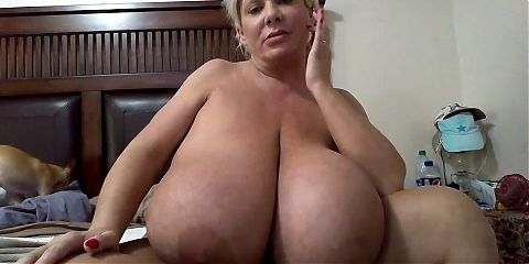Granny with Huge Plastic Boobs on Webcam