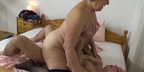 Granny Marsha having good sex