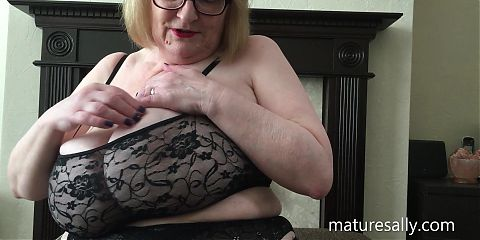 Sally in a very skimpy black top