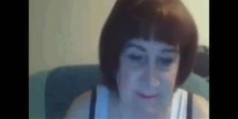 Real Russian amateur granny shows off in private skype session