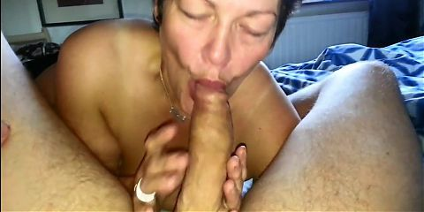 Danish granny taking a dick in her throat
