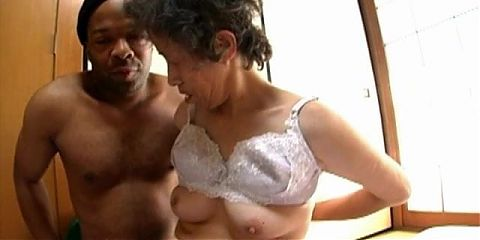 Old Asian granny has sex
