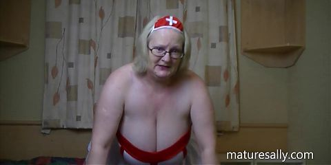 Naughty nurse Sally bares all